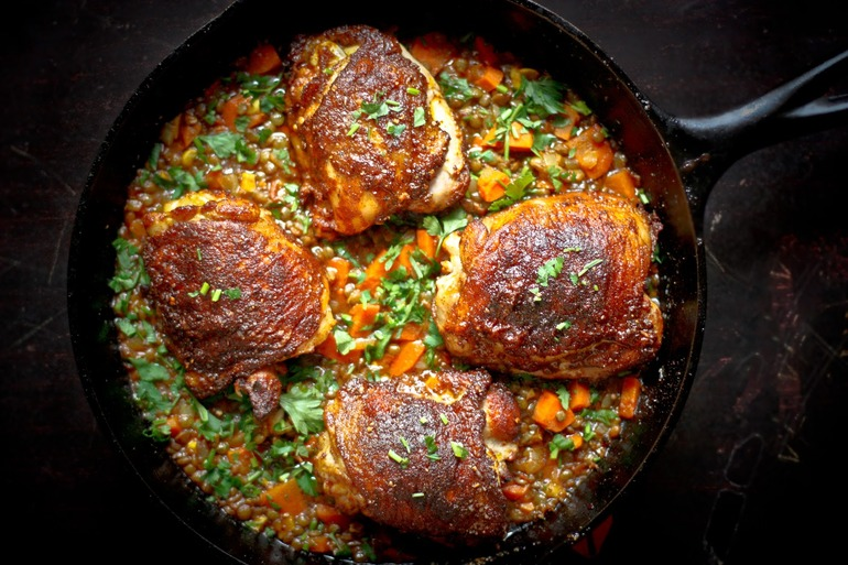 Crispy berbere chicken with ethiopian lentils recipe on we heart recipes forumfinder Choice Image