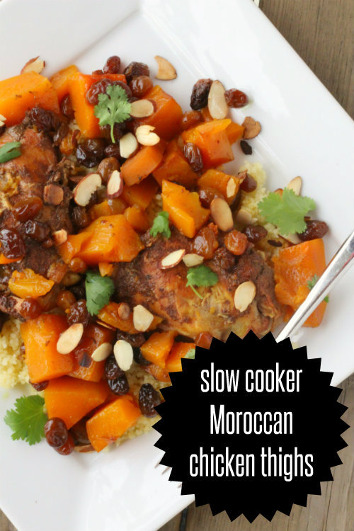 Slow Cooker Moroccan Chicken Thighs {easy weeknight meal} Recipe on We ...