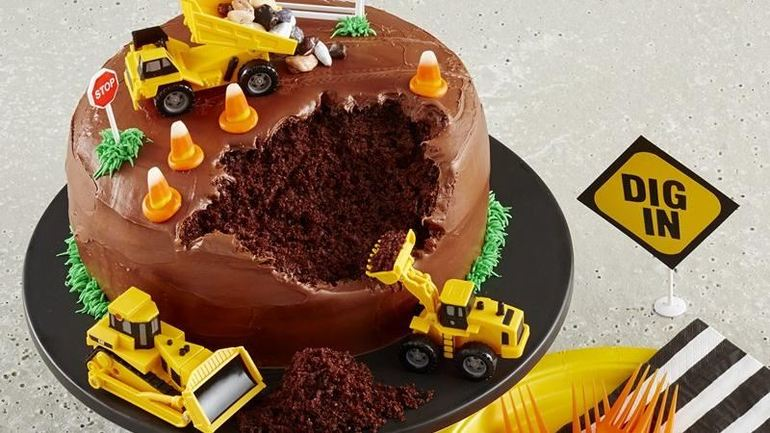 Construction Site Cake Recipe On We Heart Recipes